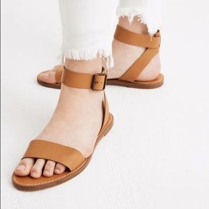 Madewell Boardwalk Brown Ankle Strap Sandals